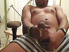 Hot big black cock cum load