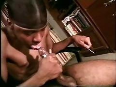 Guy giving himself a blowjob