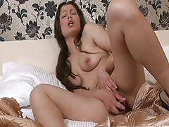 Horny girl alone at home
