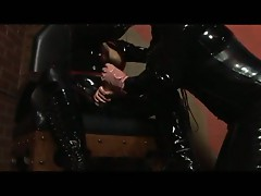 Rubber play with horny pussy loving lesbian sluts in latex