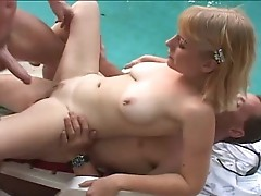 Blonde doxy filled with cock