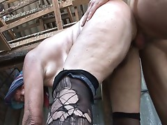 The saudi arabian granny fucked by a young cock