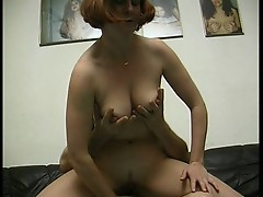 Mom playing titfucked sex with a young cock.