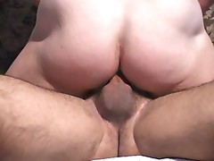 Two gays in hot anal action rides the cock