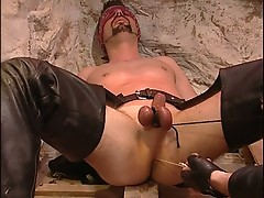 Hot dude punishes for bad behavior by his master !
