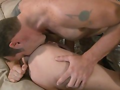 Horny dude sucking pussy and ass