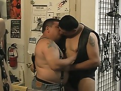 Fat horny gay dudes enjoy hardcore fuck