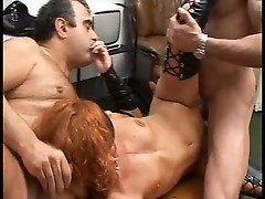 Huge cock fuckers nasty babe sharing hardcore threesome pounding