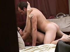 Voyeur fun with hot slut getting her little pussy worked hard