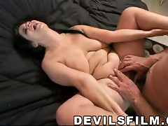 Big milf gets her hairy pussy drilled