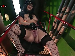 Black haired bitch loves pumping sweet babe