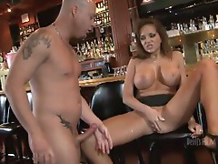 Busty brunette nika noire gets her pussy fucked at the bar
