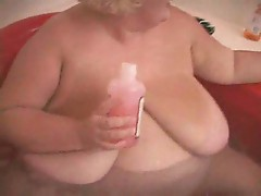 This horny bbw with massive breasts get all wet and naughty in the tub