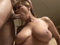 Milf shows her expertise in sucking a huge cock