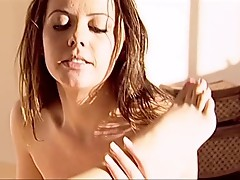 Horny lesbians making love on the bed
