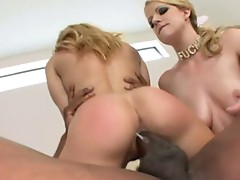 Horny babe takes a big black dick into her white ass