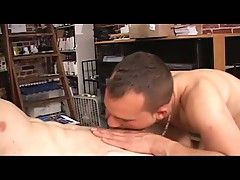 Hot gay is sucking thats small cock in a horny blowjob video