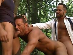 Bareback fucking in the woods