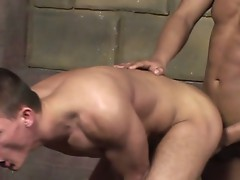 Two gay bouncers take a break and bang the ass