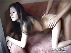 Real couple sex in the dormitory tape