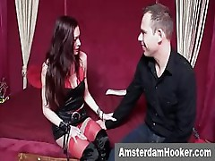 Amsterdam prostitute sucking dick