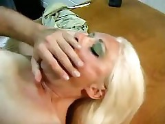 Blonde starts sucking on a dick in the break room and fucks