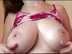 Brunette with big tits is shaking them around before fucking