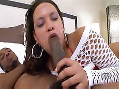 Black babe brings home a black cock to get fucked on the couch