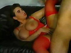Georgina Lampkin has huge tits and fucks a hard cock with friend