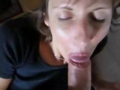 Beauty Mature milf mom masturbate gives blowjob and get creampie