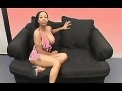 Black bimbo smokes taking three sticky cumloads