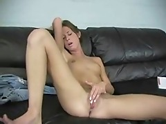 Skinny Girl Masturbates for Us by snahbrandy
