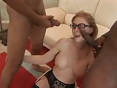 Nina hartley with two black cock