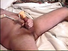 cumming with a cock-head vibrator!