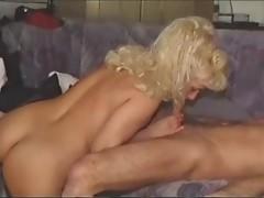 blonde mature blowjob & fucking