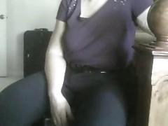 wifes udders - purple T