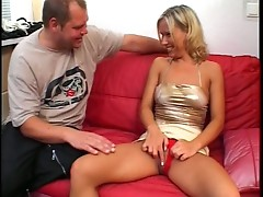 His long cock fucks this mature blonde