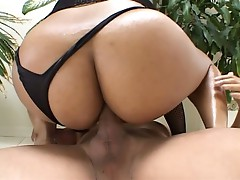 Ebony slut fucked by two massive cocks