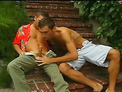 Hardcore gay sex two sexy studs outdoors fun