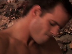 Hardcore gay sex by the fireplace