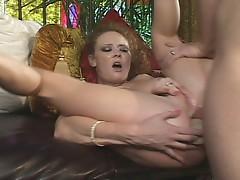 Redhead slut doing super hardcore anal fuck