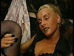 Blonde bitch gets nailed hard
