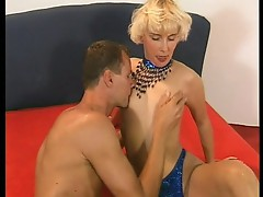 Horny blonde succeeded in her sex test