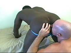 Two gay studs interracial hardcore anal sex video
