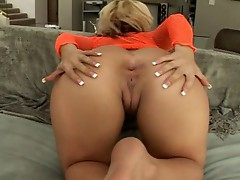 Nasty blonde babe sweet ass fucked