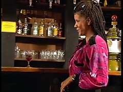 Braided MILF fucks in a bar