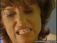 Rough pussy action for milf lesbians