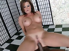 Pretty hot babe fucked by a black dude