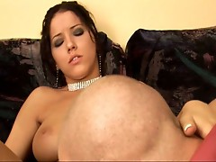 Hot brunette drilled by big dick