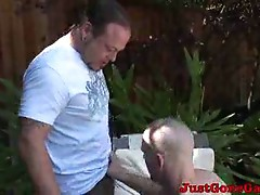 Pool cleaner daddy stripping for gay master